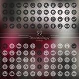 Set Technologieikonen Lizenzfreie Stockfotografie