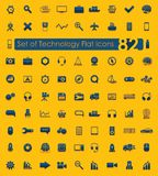 Set of technology flat icons Stock Images