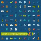 Set of technology flat icons Royalty Free Stock Images