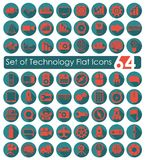 Set of technology flat icons Royalty Free Stock Photos