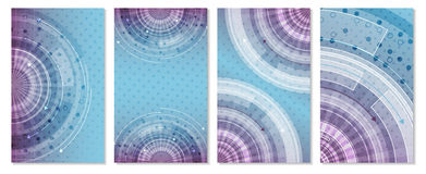 Set of technology futuristic  background with circular pattern and arrows. Stock Photography