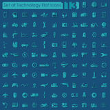 Set of technology icons Royalty Free Stock Images