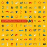 Set of technology icons Royalty Free Stock Image