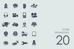 Set of technology icons Royalty Free Stock Photography