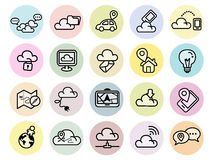 Set of technology icons for web and mobile Stock Photos