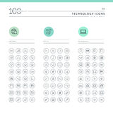 Set of technology icons for web and mobile Royalty Free Stock Photography