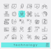 Set of technology line icons. Royalty Free Stock Photo