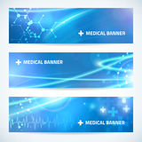 Set technology medical banner background for web or print Royalty Free Stock Photography