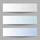 Set of Technology pixel banners Royalty Free Stock Images
