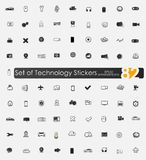 Set of technology stickers Stock Photography