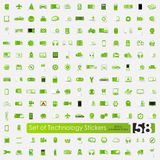 Set of technology stickers Royalty Free Stock Images