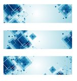 Set of Technology web-banners. Stock Photos