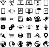 Set of technology web icons. On a white background Stock Photo