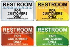 set tecken för toalett stock illustrationer