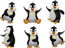 Set tecken för ung pingvin Arkivbild