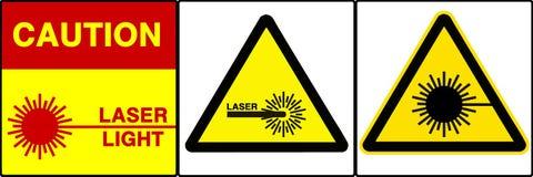 set tecken för varning vii som varnar Royaltyfri Fotografi