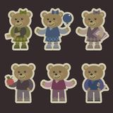 Set with teddy bears Stock Image