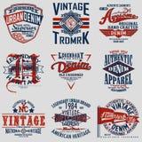 Set of tee shirt print design Stock Image