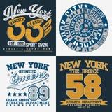 Set of tee shirt print designs. Set of Grunge Sport t-shirt graphic designs,  Vintage Sport print stamps, Sports wear typography emblems, Creative design, Vector Royalty Free Stock Photo