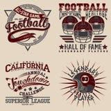Set of tee shirt print designs. Set of Grunge Sport t-shirt graphic designs,  Vintage Sport print stamps, Sports wear typography emblems, Creative design, Vector Royalty Free Stock Photos