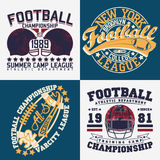 Set of tee shirt print designs. Set of Grunge Sport t-shirt graphic designs,  Vintage Sport print stamps, Sports wear typography emblems, Creative design, Vector Royalty Free Stock Photography
