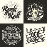 Set of tee shirt print designs Royalty Free Stock Photography