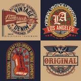 Set of tee shirt print designs. Set of Vintage typography, t-shirt graphics, apparel stamps, tee print designs, vector vector illustration