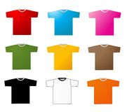 Set of tee shirts Stock Photo