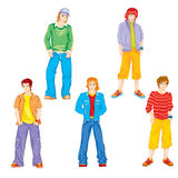 Set of teenagers Stock Images