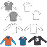Set of tees Stock Images