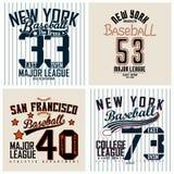 Set of teeshirt print designs Stock Image