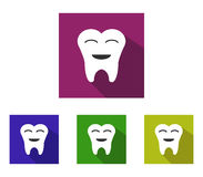 Set of teeth illustrated icons Royalty Free Stock Images