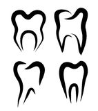 Set of teeth symbols Royalty Free Stock Image