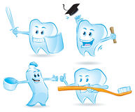 Set of Teeth and Toothpaste Royalty Free Stock Image