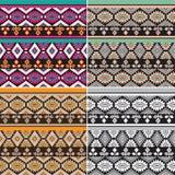 Set tekstura wzory Fotografia Stock