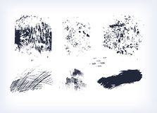 Set tekstury wektor odizolowywający inkasowy uderzenie ilustracji