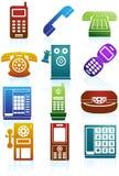 Set Telefon-Ikonen Stockbilder