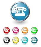 set telefonvektor för symbol Fotografering för Bildbyråer