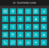Set Of Telephone Buttons And Icons Stock Photo