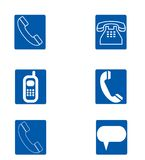 A set of telephone icons Stock Photography