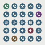 Set of telephone icons. Set of vector flat design telephone icons Royalty Free Stock Images