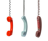 Set of telephone receiver Royalty Free Stock Photography