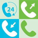 set of Telephone receiver  icon. phone icon Stock Photography