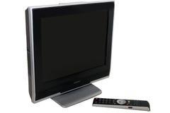 set television för svart kontrollremote Arkivbilder