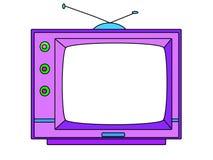 set television för tecknad filmillustration Royaltyfri Fotografi