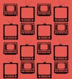 set television vintage device seamless pattern Stock Photography
