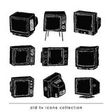 Set Televisions, vintage, vector illustration Stock Photo