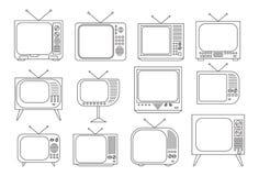 Set televisivo d'annata Fotografia Stock