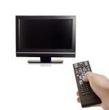 Set televisivo e una persona Immagine Stock Libera da Diritti