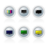 Set of televison banner and button Royalty Free Stock Photography